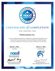 NACD Responsible Distribution Verification Certificate 2021