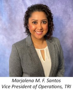 Marjalena M.F. Santos as Vice President of Operations _TRI